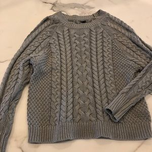 Grey Knit Aerie Sweater